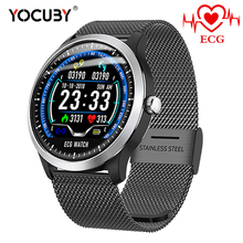 YOCUBY N58 Smart Watches ECG PPG Heart rate Blood Pressure Monitor Smartwatch Sports Pedometer Fitness Bracelet Men Women Watch