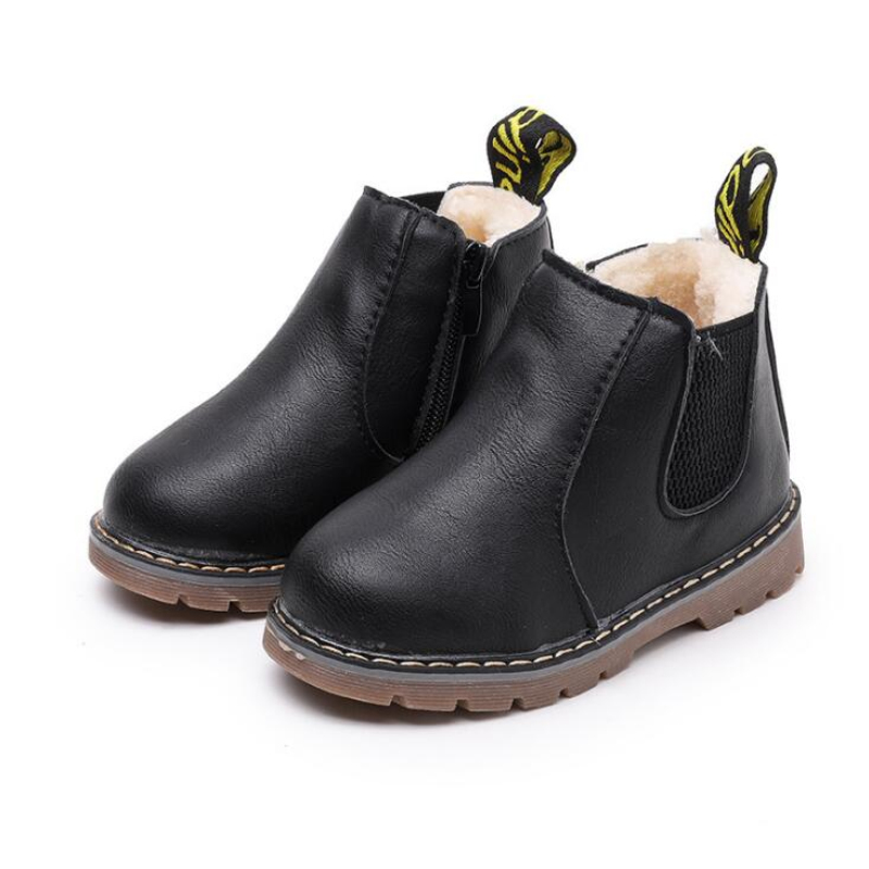 Children Snow Boots 2020 Autumn Winter Cotton Shoes Boys Girls Waterproof Non-slip Ankle Boots Kids Leather Boots Fashion