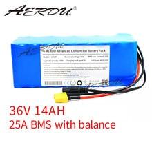 Aerdu 36 v 10s4p 14ah 42 v 18650ga bateria de lítio de alta capacidade para ebike carro elétrico bicicleta scooter cinto 25a bms