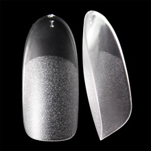 UV gel Fake nail tips Oval Matte inside and surface thin fingernail tips Acrylic clear Frech style