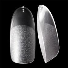 UV jel Sahte tırnak ipuçları Oval Mat iç ve yüzey ince tırnak İpuçları Akrilik şeffaf Fransız tarzı