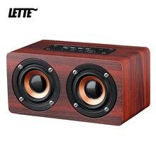 Bluetooth Wooden Bass Speaker AUX Input TF Card Playback Wireless Subwoofer Portable Bass Column