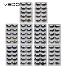 Mink-Eyelashes Natural-Hair Makeupfake 5-Pairs 3D Long New