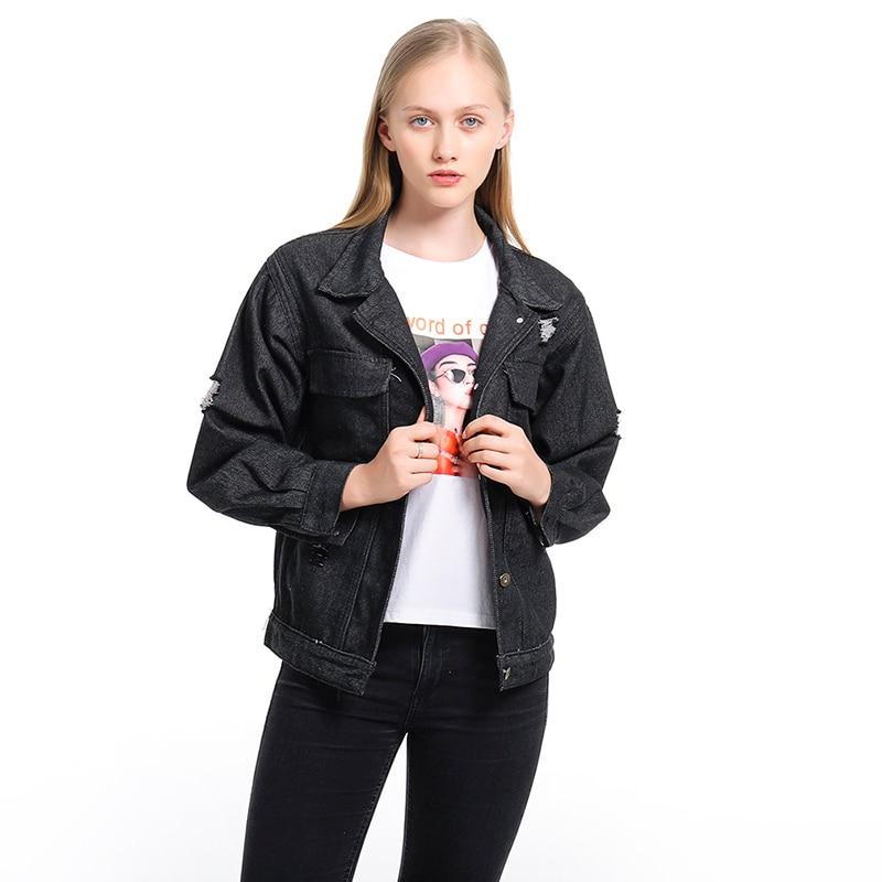Spring Autumn Coats Denim   Jacket   Women Long Sleeve   Basic     Jackets   Thin Women's   Jacket   Female   Jackets   Outwear