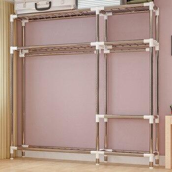 Tragbare Kleiderschränke | COSTWAY Tuch Schrank Für Kleidung Stoff Folding Tragbaren Schrank Schrank Schlafzimmer Home Möbel Armario Ropero Muebles