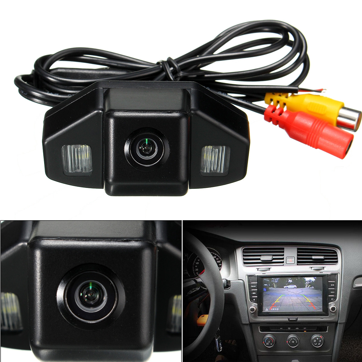 HD CCD Car Rear View Camera Reverse Parking Backup Night Vision For HONDA CRV 2007-2013 Odyssey 2008 2011