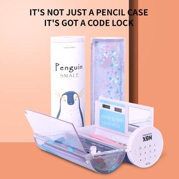 Pencil Case Trousse Scolaire Kawaii NBX Calculator Astuccio Pen Box Estuche Estojo Escolar School Supplies Password Pencilcase
