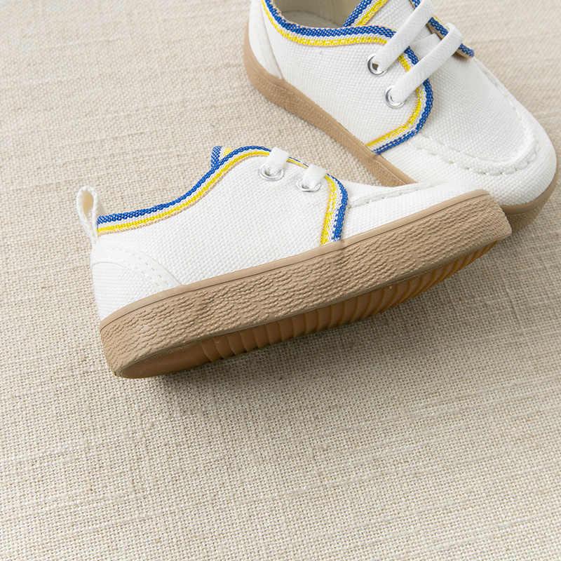 DBX12781 Dave Bella Musim Semi Anak Bayi Laki-laki Kanvas Sepatu Merek Beige Sepatu