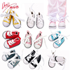 5cm Pink Canvas Shoes For 1/6 BJD Lolita Dolls Accssories For 14'' Toys Makeup Casual Shoes Muppet White Socks For Girl's Gift