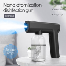 300ML Nano Steam Disinfection Gun USB Charge Water Charging Hand-held Blue Light Wireless Fogging Sprayer Home Garden Supplies