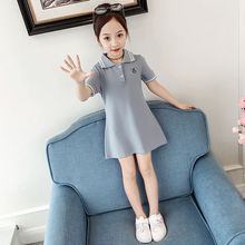 Girls Dress Summer Cute Girl Princess Dresses Kids Children Clothing Party Suits Short Sleeve Lapel Dress for 8 10 12 14 years dresses for girls of 12 years old girls summer dress children puff yarn princess dress baby girl clothing for age 8 10 12 14