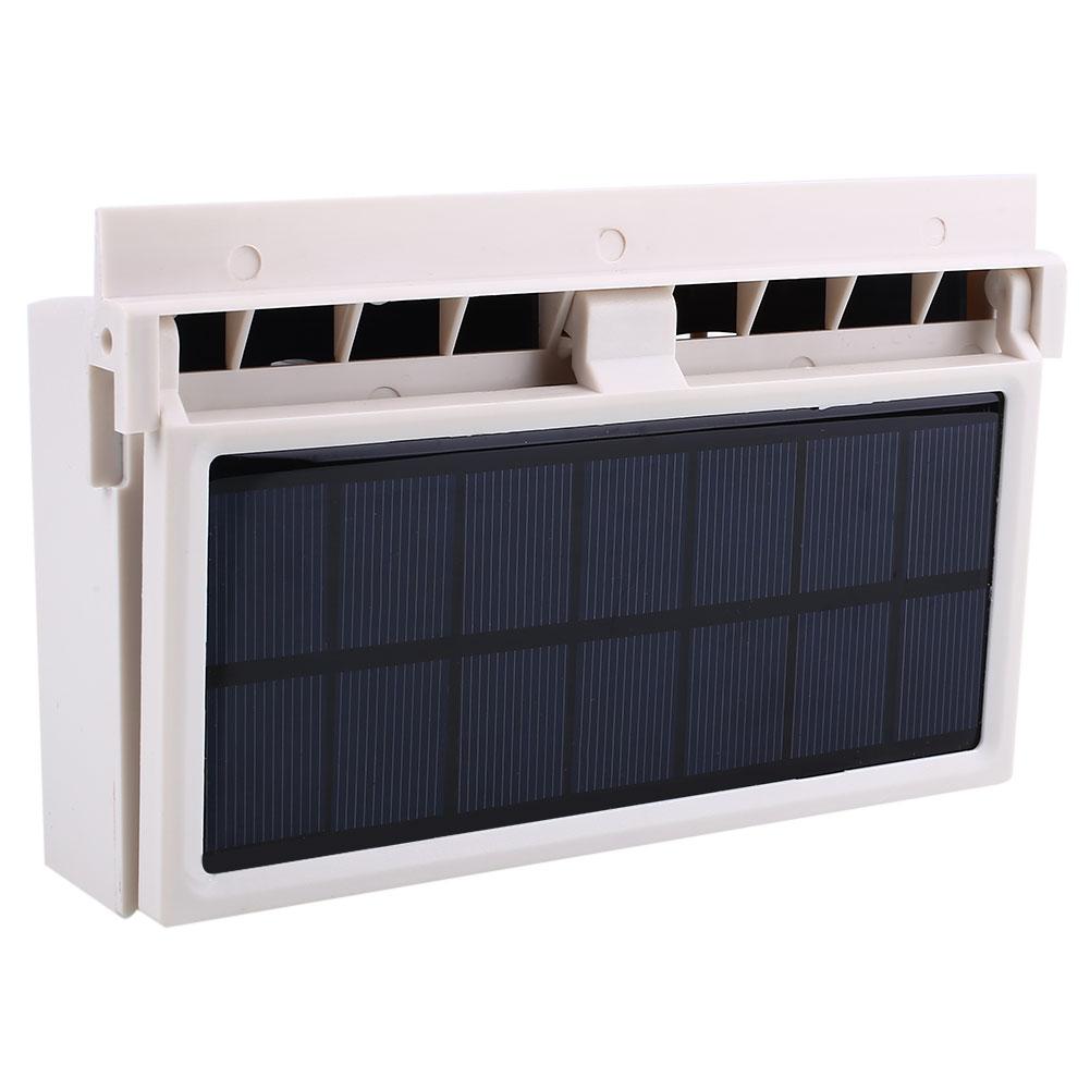 White Portable Solar Powered Auto Car Van Window Vent Ventilator Conditioner Fan