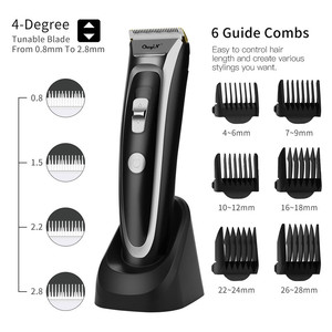 Image 1 - Аккумуляторная машинка для стрижки волос CkeyiN, светодиодный триммер для волос с тихим керамическим ножом