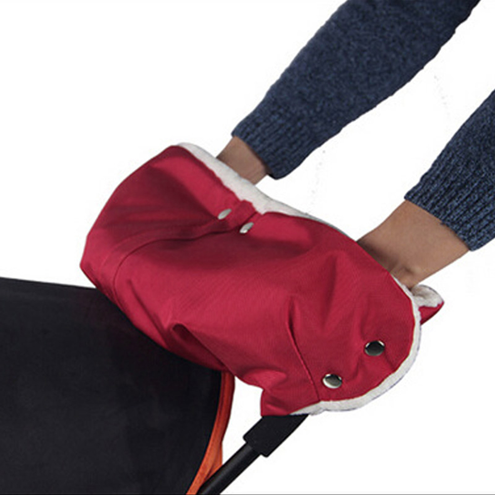 Winter Warme Stroller Gloves Pushchair Hand Muff Waterproof Pram Mitten Baby Buggy Clutch Cart Outdoor Thick Fleece Gloves