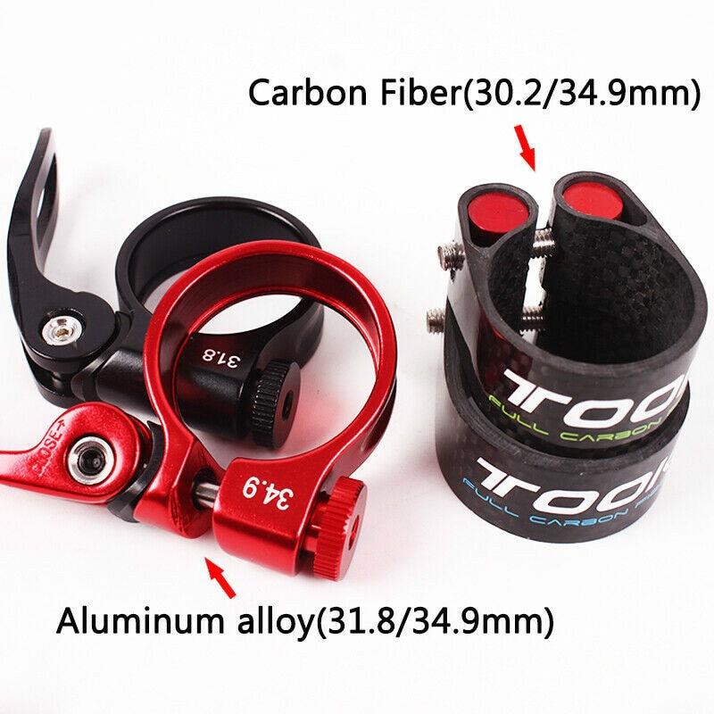30.2/31.8/34.9mm Carbon Fiber Seatpost Clamp Aluminium BMX Bike Seat Clamp Mountain Bike Seatposts Clamps Bicycle Accessories