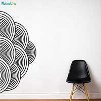 Половинчатые круги, настенные наклейки, Круглые, Ретро стиль, украшение для дома, гостиной, спальни, узор, самоклеющиеся, подарок, художестве...