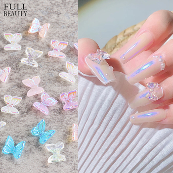3D Resin Butterfly Glitter AB Nail Art Decorations Summer Home Fashion Nail Polish Ornament Manicure Decals Accessories CH1860