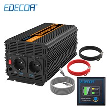 Power-Inverter Remote-Controller 230V Edecoa 2000w 220v Modified Dc 12v AC To 240V
