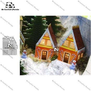 New Dies 2020 3D Miniatures House Metal Cutting diy photo album cutting dies Scrapbooking Stencil stamps metal