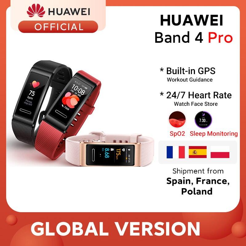 Global Version Huawei Band 4 Pro Smart Band Blood Oxygen 0 95   AMOLED Screen Heart Rate Tracker GPS Sleep monitoring Smartband