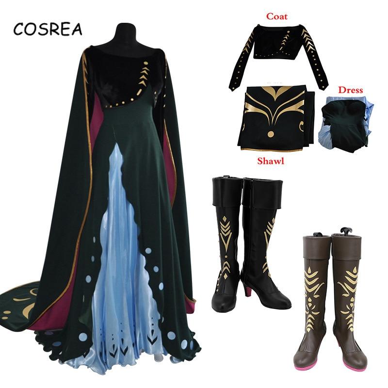 Anna Elsa Princess dress Necklace Costume Adult Women Cos Party Fancy Halloween