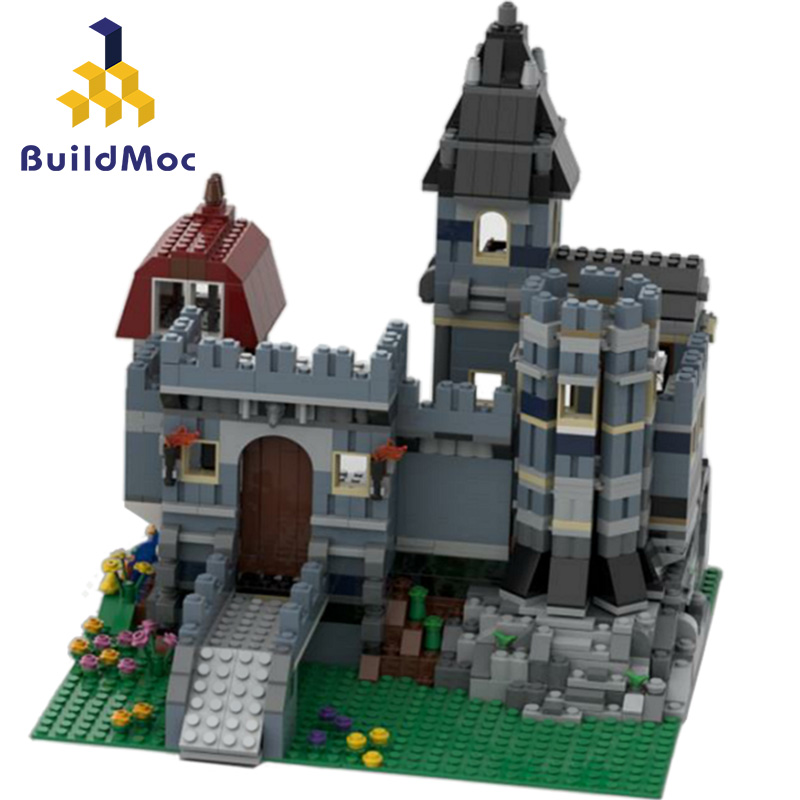 UPS Blue Castle Alternate Build Movie Magic Castle School set Building Blocks Bricks Compatible lepingLYS Toys for Kids Gifts 1