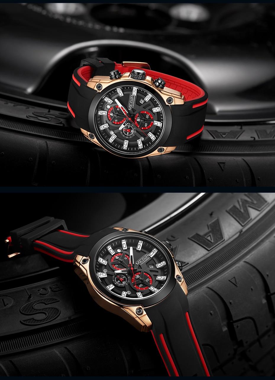 H76cc522170bb422aa962e5f619221bacE MEGIR 2020 Blue Sport Watches for Men