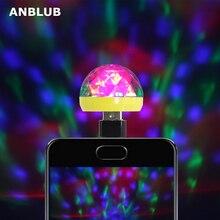 ANBLUB USB сценический светильник, диско-музыка, магический шар, лампа, изменение цвета, Клубные, вечерние, Домашний Светильник, ing Effect для мобильного телефона, ПК, power Bank