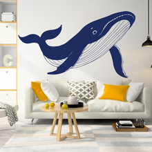 Nursery Cartoon Whale Marin Sea Fish Room Decoration Large Geometric Nautical Animal Wall Sticker Poster Decals Decor W626