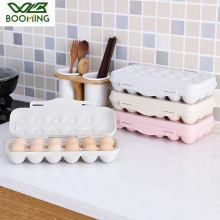 WBBOOMING Plastic Egg Tray Kitchen Egg Storage Box Stackable Buckle Design Kitchen Egg Storage Box Refrigerator Organizer Bottle