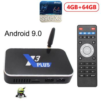 TV pudełko Android 9 0 X3 PLUS Amlogic S905X3 2GB 4GB DDR4 16GB 32GB 64GB ROM 2 4G 5G WiFi 1000M LAN Bluetooth 4K HD X3 Cube X3 Pro tanie i dobre opinie CanMixs 1000 M CN (pochodzenie) Procesor Amlogic S905X3 Quad-core 64-bit 64 GB eMMC HDMI 2 0 4 gb DDR4 X3 CUBE X3 PRO X3 PLUS