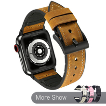 Genuine Leather Band For Apple Watch Series 5 4 Watchband 40 44mm Elegant Wrist Strap For iWatch Series 3 2 1 42/38mm Bracelet hoco new genuine leather 44 42 40 38mm watchband for apple watch 4 3 2 first layer cattle leather strap bracelet for iwatch