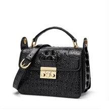 цена на FENGE Thai crocodile skin women's bag single-shoulder bag leather bag women's bag new fashion cross-body single-shoulder bag