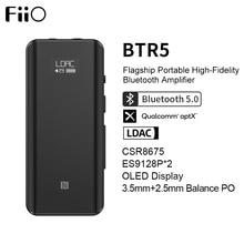 Amplificateur de casque Bluetooth Portable FiiO BTR5 CSR8675 AptX HD LDAC USB DAC AAC iPhone Android 3.5mm 2.5mm décodeur Audio HiFi