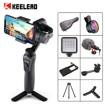 KEELEAD 3-Axis Handheld Gimbal Stabilizer Focus Pull & Zoom for Smartphone Phone Action Camera Video Record Vlog Live 1