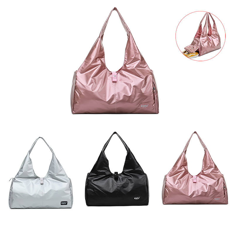Women Gym Bag Shoe Compartment Waterproof Nylon Sport Bags For Yoga Fitness Travel Handbag Outdoor Sport Training Storage Bags