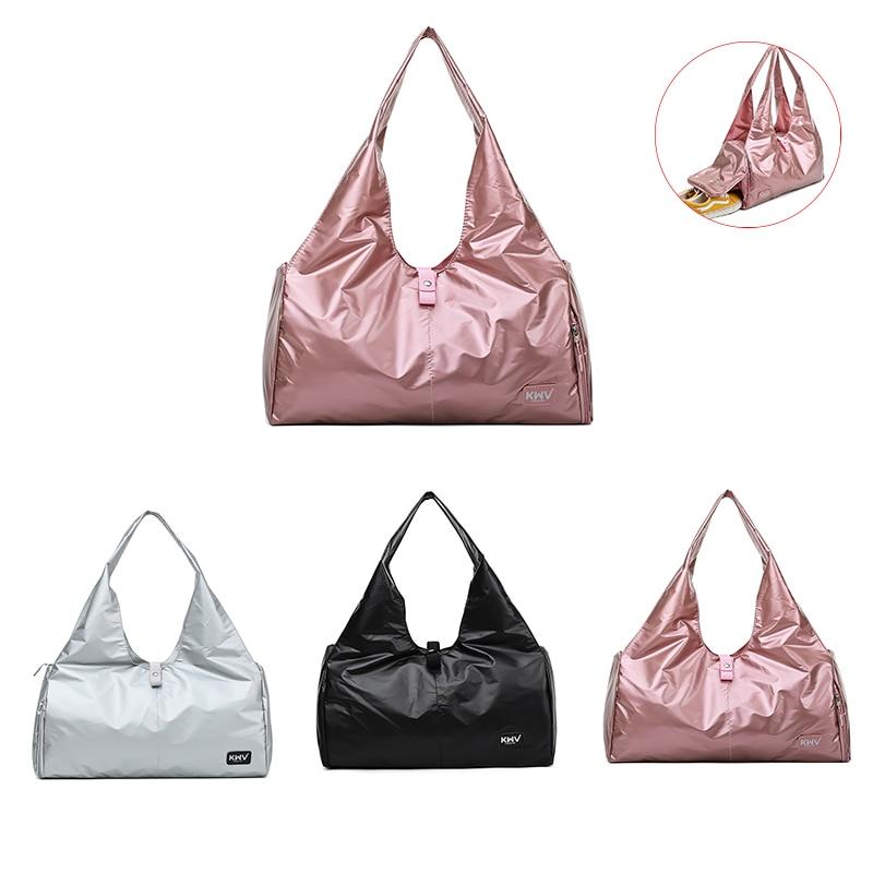 Women Gym Bag Shoe Compartment Waterproof Nylon Sport Bags For Yoga Fitness Travel Handbag Outdoor Sport Training Storage Bags