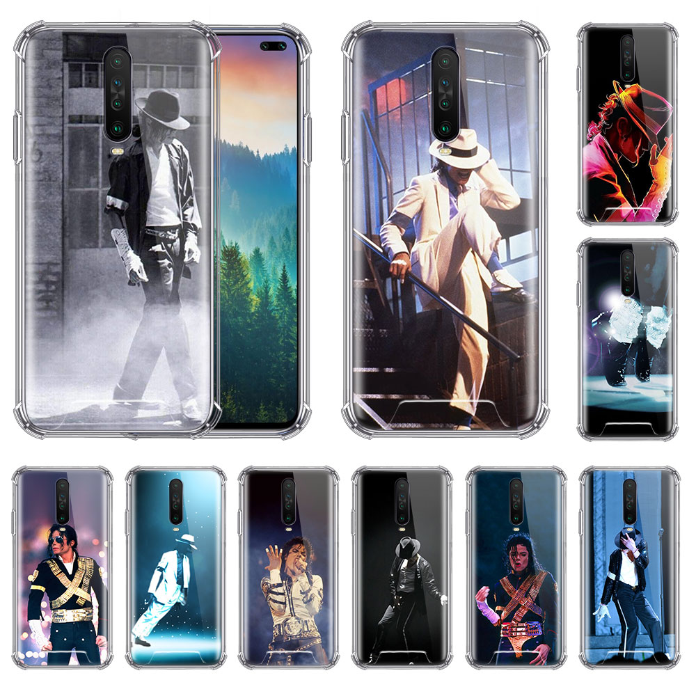 Michael Jackson Dance King Case For Xiaomi Redmi Note 8T 9 8 7 K20 Pro K30 7A 6 Airbag Anti Fall Phone Coque Soft Covers image