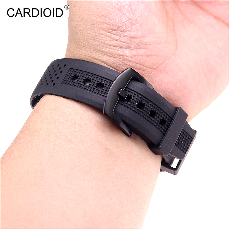 Image 4 - New style high end 22mm silicone strap bracelet bracelet for Samsung Gear S3 S4 Galaxy Watch 46mm watch strap watchbands-in Watchbands from Watches