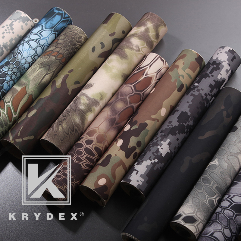 KRYDEX Tactical Elastic Camouflage Stickers 150*20 MC Camo Tactical Wrap Adhesive Decal DIY Roll Shooting Hunting Accessories