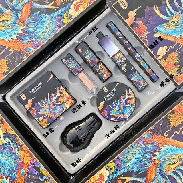 7 unids/set maquillaje juegos incluyen uso diario del polvo de cara Fundación corrector Lápiz Delineador de ojos maquillaje cosmético de la caja de regalo 3