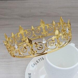 Korona ślubna stroik ze stopu akcesoria ślubne pałąk stroik ręcznie kryształowa korona moda damska tiary Hairwear Trendy