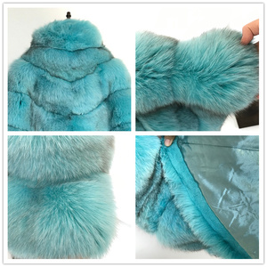 Image 5 - BFFUR Real Fur Fox Coat For Womens Top Quality Natural Fur Coat Ponchos and Capes Whole Skin Covered Women Winter Fashion Coats