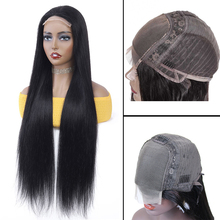Ross Pretty 18inch-28inch Long Virgin Hair Lace Wigs With 4x4 5x5 Front HD Transpalace Closure Brazilian Hair Straight Wig