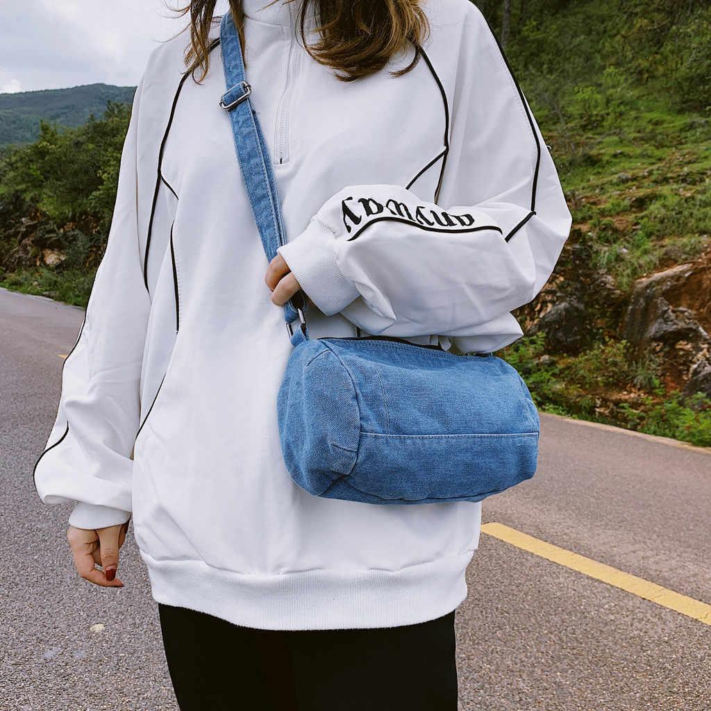 OCARDIAN çanta Denim omuz el çantası kadın omuzdan askili çanta Crossbody günlük kot çanta kadın çanta ana kesesi bolsos O10