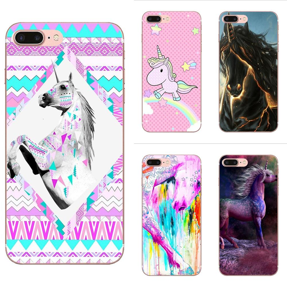 For Samsung Galaxy Note 8 9 10 Pro S4 S5 S6 S7 S8 S9 S10 S11 S11E S20 Edge Plus Ultra Cover Rainbow Horse Puke Unicorn Love
