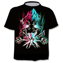 Funny graphic T-shirt anime Harajuku tops summer 3D men's T-shirt fashion boy clothing plus size street clothing