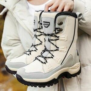Image 5 - UPUPER שלג מגפי אישה חורף מגפי 2019 נוחות חם נשים של חורף נעלי עקבים פלטפורמת מגפיים עם פרווה חדש Botas mujer