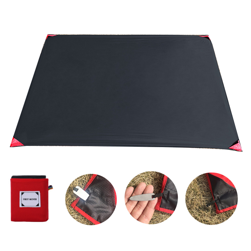 150*180cm Portable Pocket Camping Mat Folding Camping Mattress Baby Climb Outdoor Ultra-thin Waterproof Beach Picnic Blanket 1
