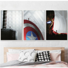 Marvel Ant Movie Posters and Prints Captain America the first Avenger Abstract Wall Art Paint Canvas Painting Bedroom Home Decor(China)